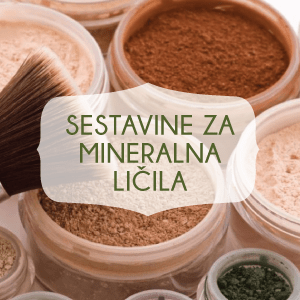 Sestavine za mineralna ličila